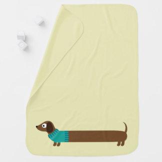 Cobertor Para Bebe Ilustração longa bonito do Dachshund