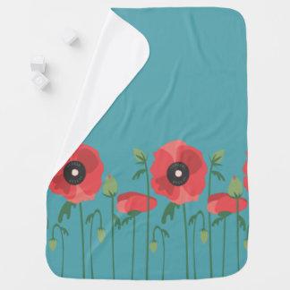 Cobertor Para Bebe Impressão de florescência do campo da papoila