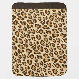 Cobertor Para Bebe Impressão do leopardo