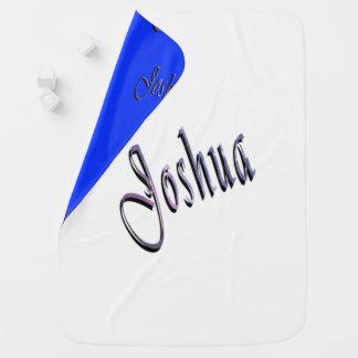 Cobertor Para Bebe Joshua, nome, logotipo, mesa, cobertura reversível