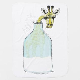 Cobertor Para Bebe Leite de Giraf
