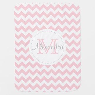 Cobertor Para Bebe Lembrança branca cor-de-rosa moderna da cobertura
