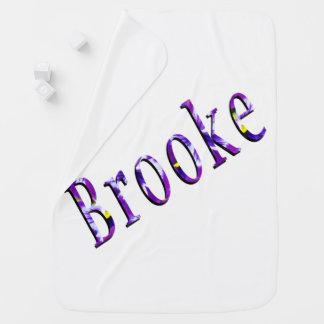 Cobertor Para Bebe Logotipo conhecido floral roxo de Brooke,