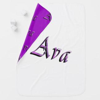 Cobertor Para Bebe Logotipo conhecido roxo cor-de-rosa de Ava,