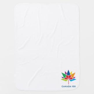 Cobertor Para Bebe Logotipo do oficial de Canadá 150 - multicolorido