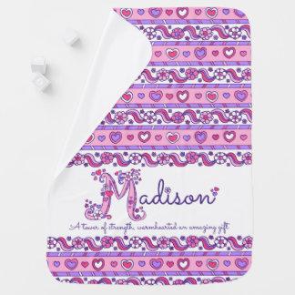Cobertor Para Bebe Madison personalizou a cobertura conhecida do bebê