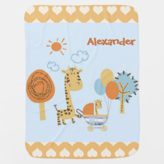 Cobertor Para Bebe mãe bonito do girafa e cobertura do carrinho de