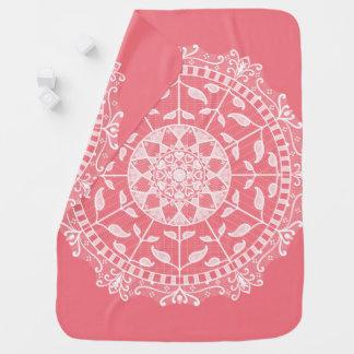 Cobertor Para Bebe Mandala do pêssego