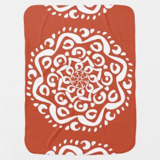 Cobertor Para Bebe Mandala do Terracotta