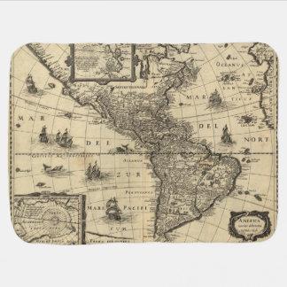 Cobertor Para Bebe mapa do século XVII dos Americas
