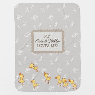 Cobertor Para Bebe Minha tia ama-me presente neutro do bebê