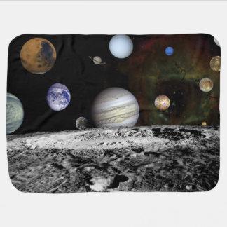 Cobertor Para Bebe Montagem planetário