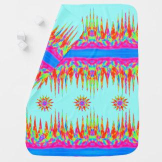 Cobertor Para Bebe Montanhas mágicas do arco-íris e três estrelas
