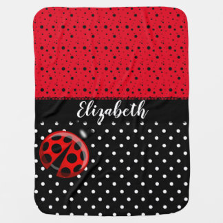 Cobertor Para Bebe Nome preto vermelho dos besouros do inseto das