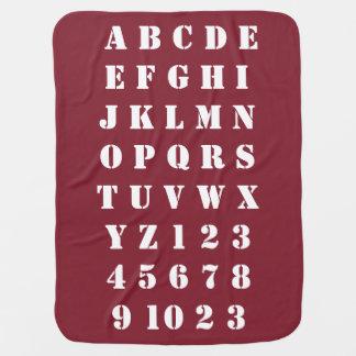 Cobertor Para Bebe Números dos alfabetos das crianças do bebê dos