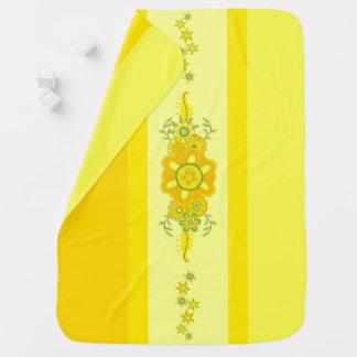 Cobertor Para Bebe O amarelo bonito floresce a peça central & as