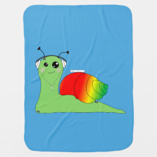 Cobertor Para Bebe O caracol do la de Sullivan ama a música: Reggae