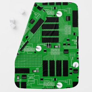 Cobertor Para Bebe O conselho de circuito verde