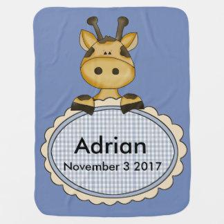 Cobertor Para Bebe O girafa personalizado de Adrian