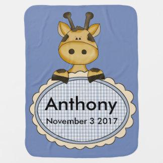 Cobertor Para Bebe O girafa personalizado de Anthony