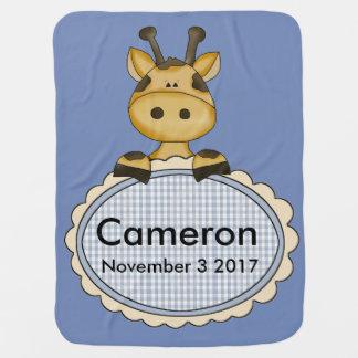 Cobertor Para Bebe O girafa personalizado de Cameron
