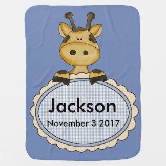 Cobertor Para Bebe O girafa personalizado de Jackson