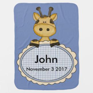 Cobertor Para Bebe O girafa personalizado de John