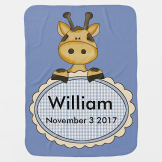 Cobertor Para Bebe O girafa personalizado de William