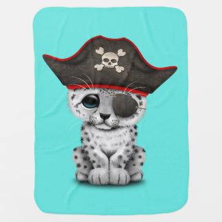 Cobertor Para Bebe O leopardo de neve bonito Cub do bebê pirateia