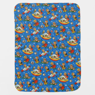 """Cobertor Para Bebe O vintage """"espaço caçoa"""" os anos 50 Rockets -"""
