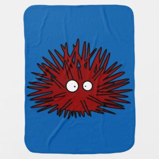 Cobertor Para Bebe Oceano vermelho uni espinhoso do ouriço do