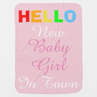 Cobertor Para Bebe Olá! bebé novo na cobertura do rosa da cidade