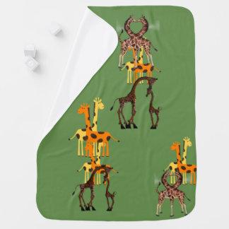 Cobertor Para Bebe Os gêmeos África do girafa personalizam destinos