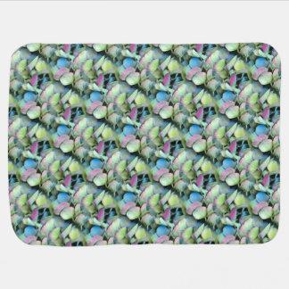 Cobertor Para Bebe Pétalas da Multi-cor do HYDRANGEA --- IMPRESSÃO DO