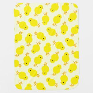 Cobertor Para Bebe Pintinho amarelo curioso