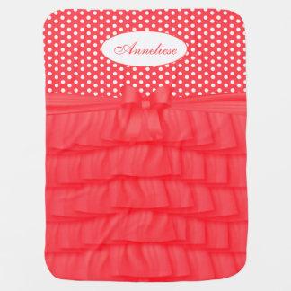Cobertor Para Bebe Plissados corais do cetim & arco de harmonização