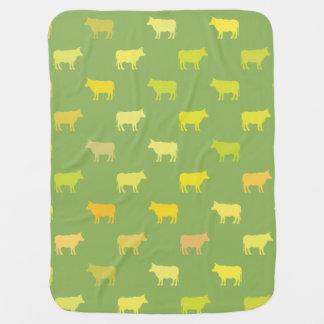 Cobertor Para Bebe Ponto morto verde do género da cobertura do bebê