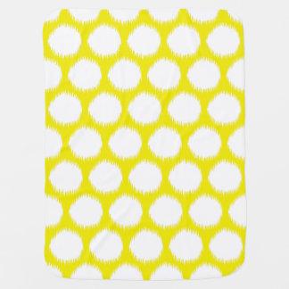 Cobertor Para Bebe Pontos asiáticos amarelos dourados de Ikat dos
