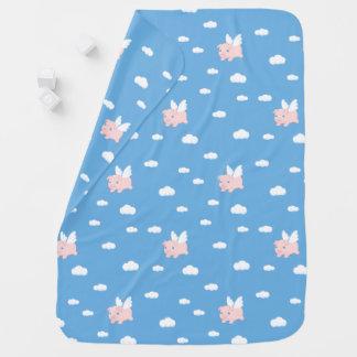 Cobertor Para Bebe Porco do vôo - leitão bonito com asas