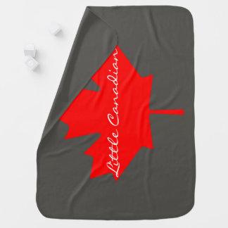 Cobertor Para Bebe Pouca cobertura vermelha canadense da folha de