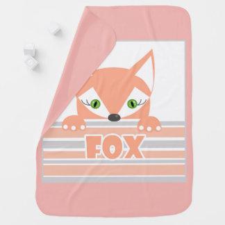 Cobertor Para Bebe Pouco Fox curioso.