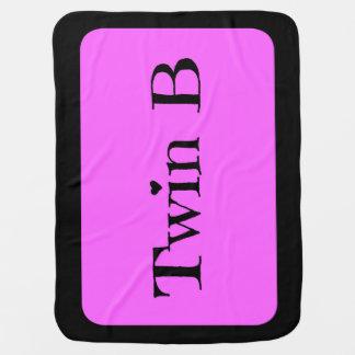 Cobertor Para Bebe Presentes gêmeos do chá de fraldas - cor-de-rosa