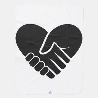 Cobertor Para Bebe Preto conectado amor