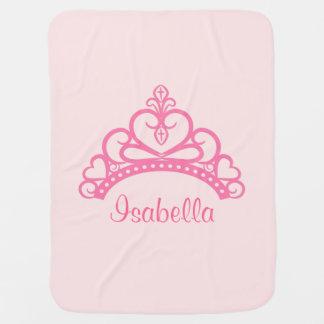 Cobertor Para Bebe Princesa cor-de-rosa elegante Tiara, coroa para os
