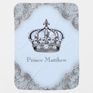 Cobertor Para Bebe Príncipe herdeiro de prata dos azuis bebés