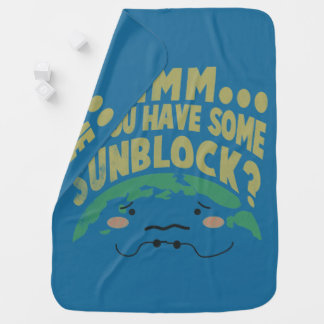 Cobertor Para Bebe Terra triste bonito que quer um Sunblock