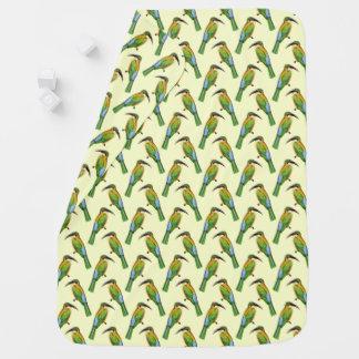 Cobertor Para Bebe Teste padrão africano do vintage do pássaro do