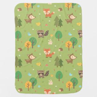 Cobertor Para Bebe Teste padrão animal da floresta bonito da floresta