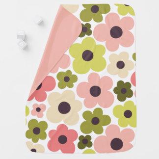 Cobertor Para Bebe Teste padrão de flower power