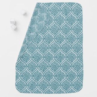 Cobertor Para Bebe Teste padrão étnico chique de Ogee na cerceta no